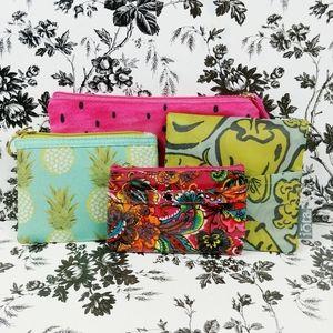 Set of 4 zip carry bags pouches makeup food bag
